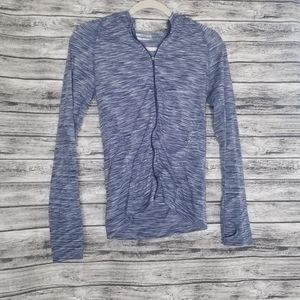 Athleta Blue Space Dye Seamless Lightweight Jacket